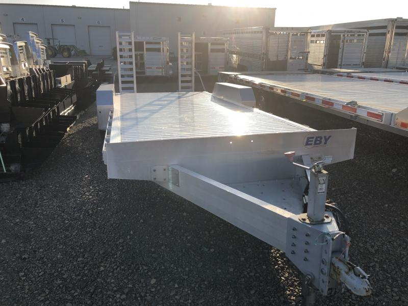 """Used 2016 EBY 20' x 82"""" Low-Pro Equipment Bumper Hitch Trailer"""