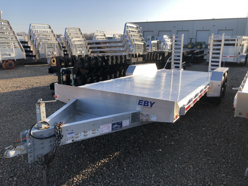 "Used 2016 EBY 20' x 82"" Low-Pro Equipment Bumper Hitch Trailer"