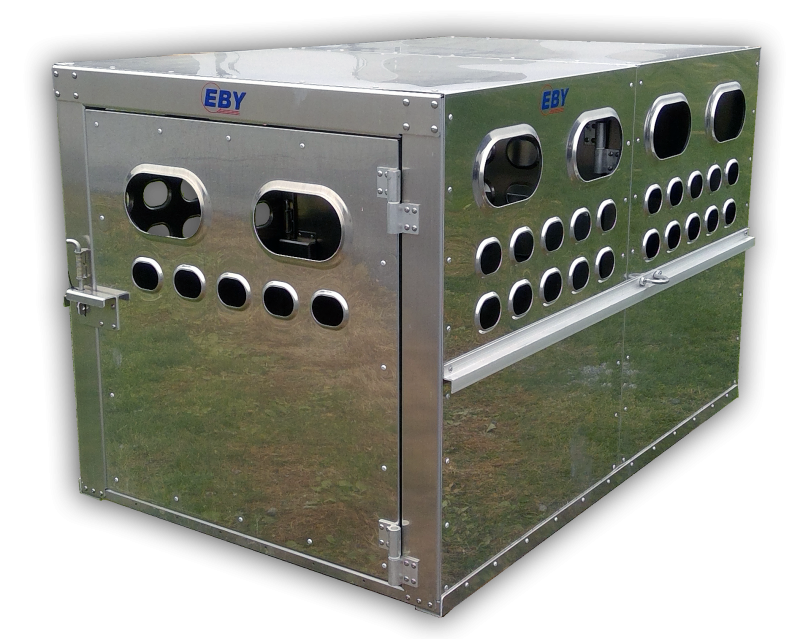 "EBY Livestock Box 6'L x 4'W x 46""H - Bright Finish"