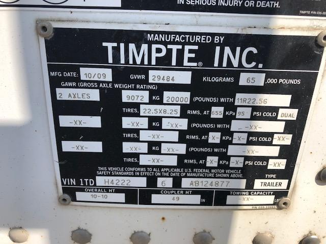 "2010 TIMPTE 42'x102""x72"" HOPPER- COMMERCIAL TUB"