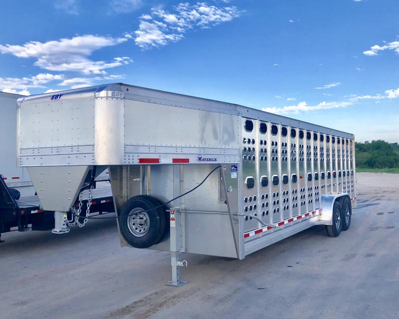 2020 EBY Maverick PP 7'x24' Livestock Trailer (Located in Texas)