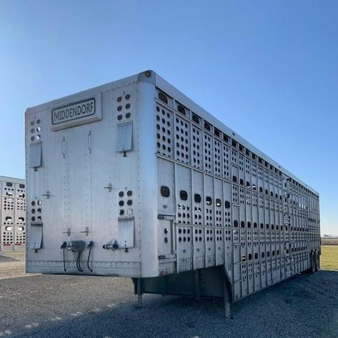 USED 2008 EBY 52X102X13.5 BULLRIDE CLOSED TANDEM  Pot Livestock-Semi