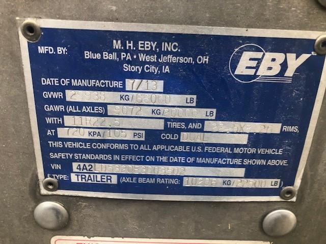 "2014 EBY 53'x102"" SPREAD 6"" DROP"