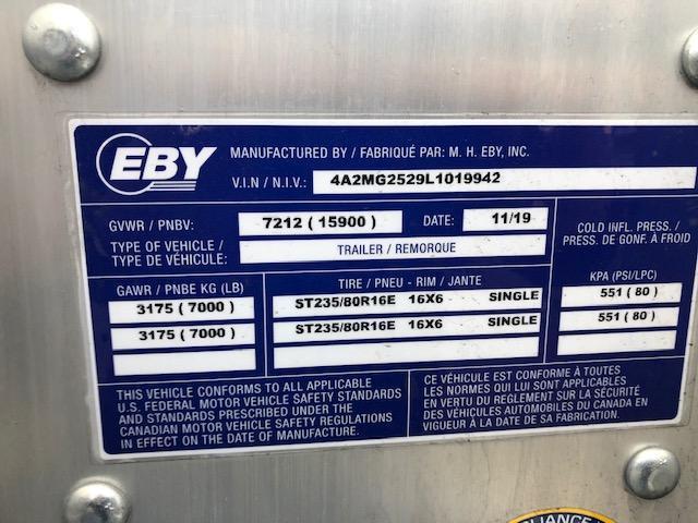 """2020 EBY GN16K 24'6"""" x 102"""" Deckover 15.9K GN - 50/50 Ramps"""