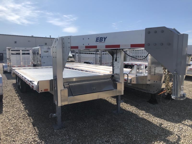 "2019 EBY 24'6"" x 102"" Flatbed Equipment Gooseneck Trailer"