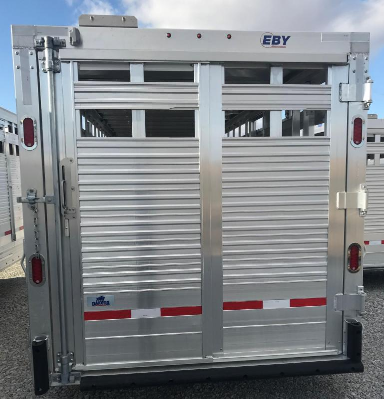 "2020 EBY 24' x 6'11"" x 6'6'' Maverick GN Slat B - Dakota Edition with Spare  GN Livestock"