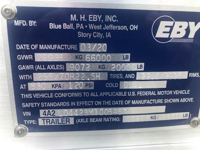 "2021 EBY 44' x 102"" x 6'8"" Ground Load"