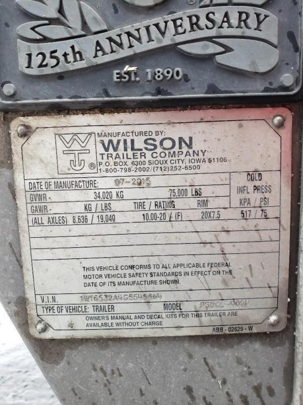 """2016 WILSON 53'x102""""x13'6""""  Spread"""
