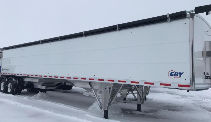 2021 EBY EBY Generation Grain Trailer 42x96x72 Pre Painted White Founder Pkg - Field Clearance  Semi Grain Trailer
