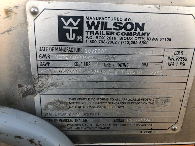 2005 Wilson 24' x 7' Livestock Trailer