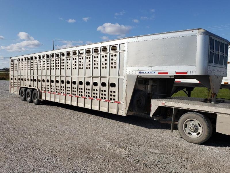 """2017 EBY RUFFNECK 35'x8'x7'6"""" Double Deck GN Livestock"""