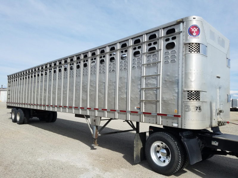 2013 Wilson Used 2013 Wilson 53' Straight Floor Livestock Semi Trailer  Straight Livestock-Semi