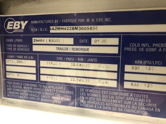 "2021 EBY Generation 42'x96""x66"" White Founder - Field Clearance Semi Grain Trailer"
