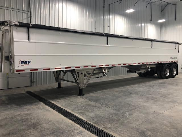 "2021 EBY Generation 42'x96""x66"" White Founder - Field Clearance Semi Grain Trailer"