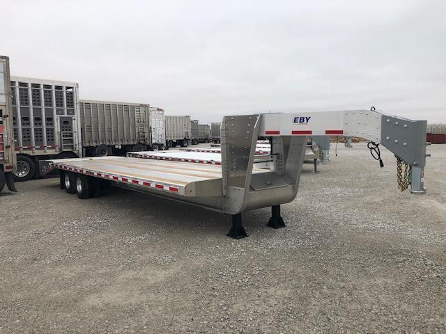 2020 EBY 25'+5' Equipment Trailer- 10k axles w/ electric brakes