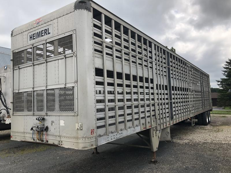 "2003 EBY 53' x 102"" x 13'6"" Drop Floor Livestock Semi Trailer"