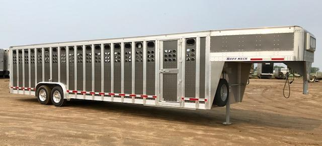 2020 EBY 32' x 8' Ruff Neck Livestock Trailer- Gun Metal Gray