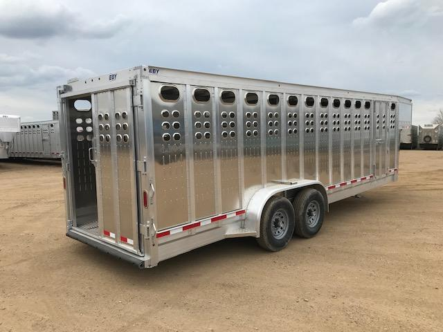 "2020 EBY 24' x 7'1"" Punch Panel Maverick Livestock Trailer"