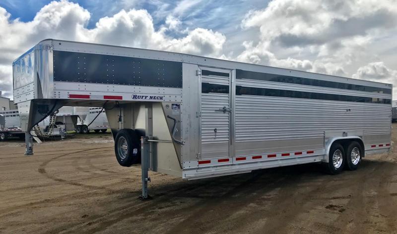 2020 EBY 26' x 8' Final Drive Ruff Neck Livestock Trailer
