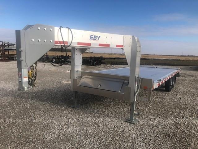 "2020 EBY 24'6""X102"" Aluminum Equipment Gooseneck Trailer"