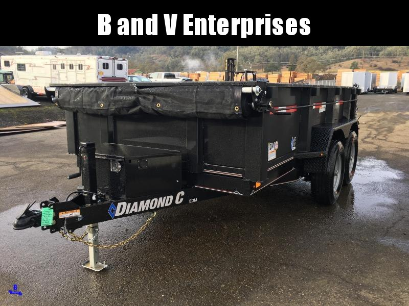 "2020 DIAMOND C EDM252 12'X77"" SCISSOR HOIST 10K DUMP TRAILER  #L1223395"