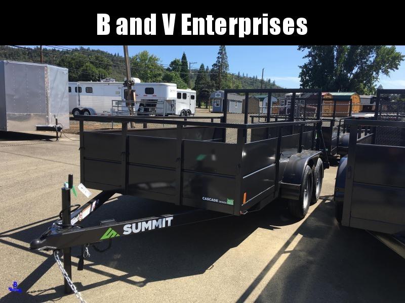 2020 Summit Cascade CU612TA2 6x12 Utility Trailer SOLID SIDES