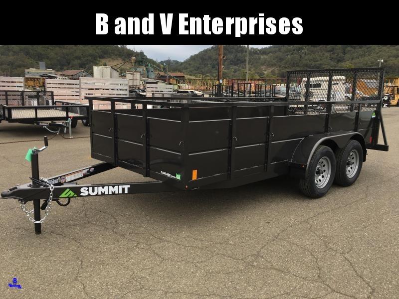2020 Summit Cascade CU614TA2 6x14 Utility Trailer SOLID SIDES #L1005406