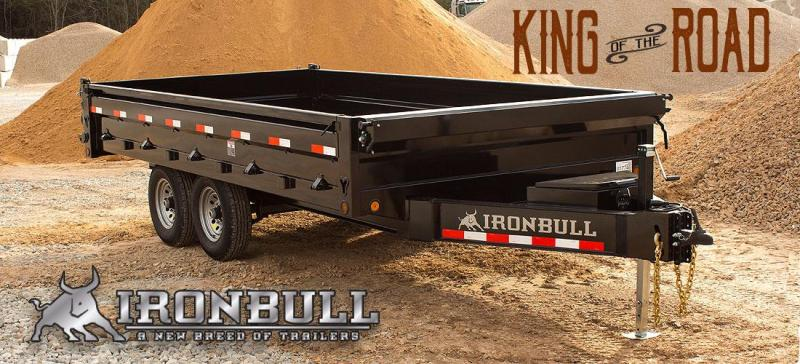 2019 Iron Bull DDP 8x14 Deckover Dump Trailer with Tarp