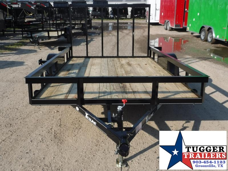 2019 TexLine 77x12 12ft Ramp Flatbed Utility Trailer