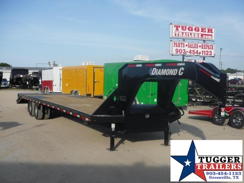 2019 Diamond C Trailers 102x35 35ft FMAX210 Heavy Duty Steel Utility Equipment Open Gooseneck Trailer