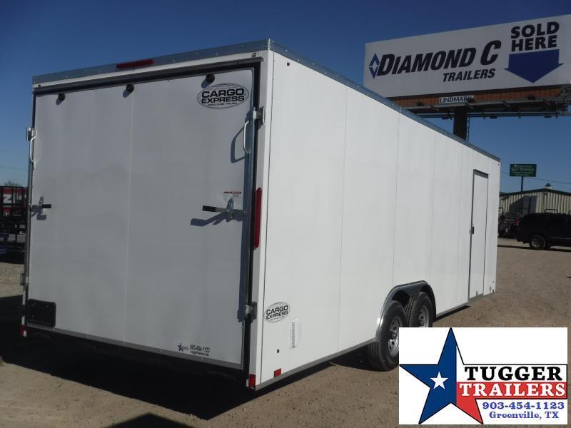 "2020 Cargo Express 8.5x24 24ft Auto 30"" Slope V-Nose Utility Cargo Car / Racing Trailer"