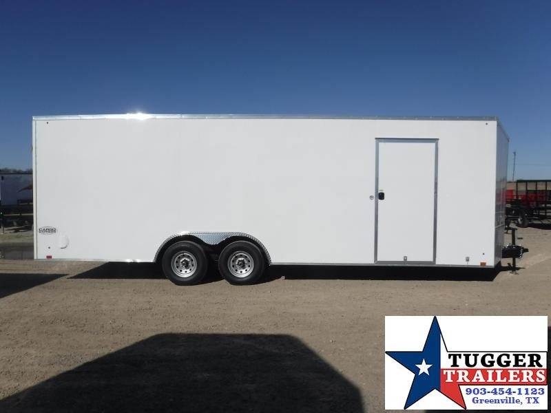 "2020 Cargo Express 8.5x24 24ft Auto 30"" Slope V-Nose Utility Cargo Car / Racing Trailer"