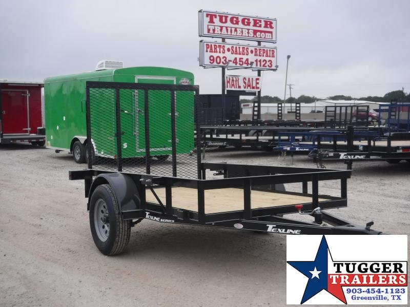 2019 TexLine 5x8 8ft Ramp Flatbed Utility Trailer