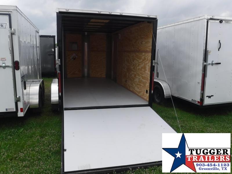 2019 Cargo Craft 7X14 14FT Black Ramp Enclosed Cargo Tandem Axle Trailer
