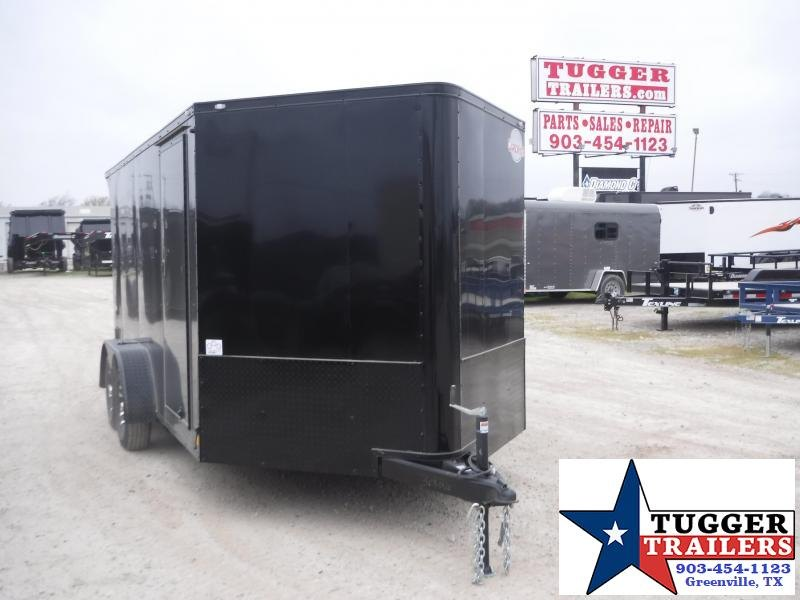2020 Cargo Mate 7x14 14ft Blazer Black Out Cargo Enclosed Utility Motorcycle Trailer