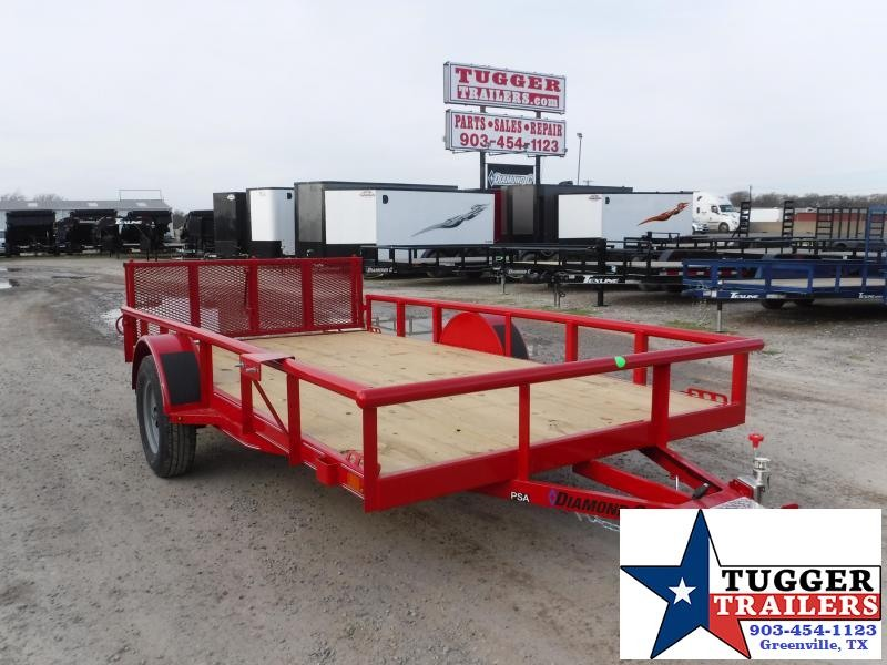 2020 Diamond C Trailers 77x12 12ft Utility Ramp Flatbed Trailer