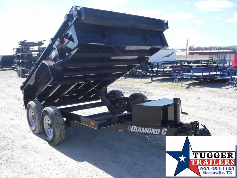 2019 Diamond C Trailers 77x10 10ft Black 2019 EDM252L Dump Trailer