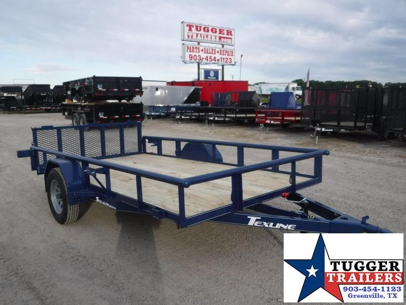 2020 TexLine 77x12 12ft Stealth Steel Toy Four Equipment Flat Utility Trailer