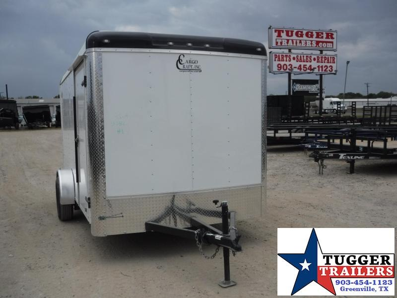 2020 Cargo Craft 7x12 12ft White Moto Cycle Bike Trike Enclosed Motorcycle Trailer
