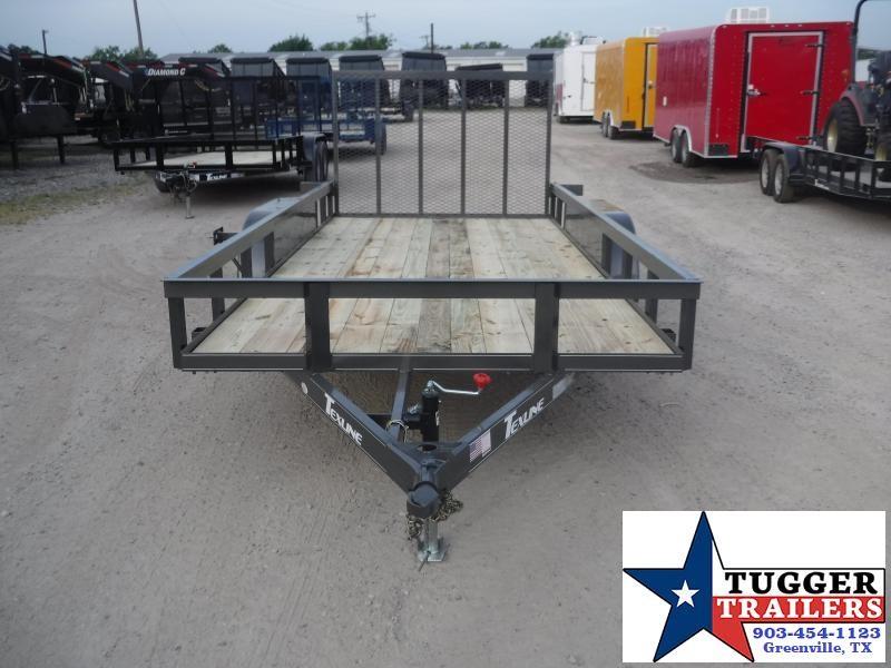 2019 TexLine 77x16 16ft Ramp Utility Flatbed Trailer
