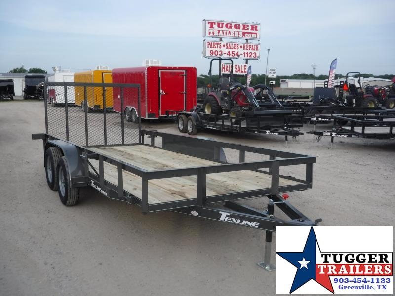2019 TexLine 77x16 16ft Ramp Utility Flatbed Trailer