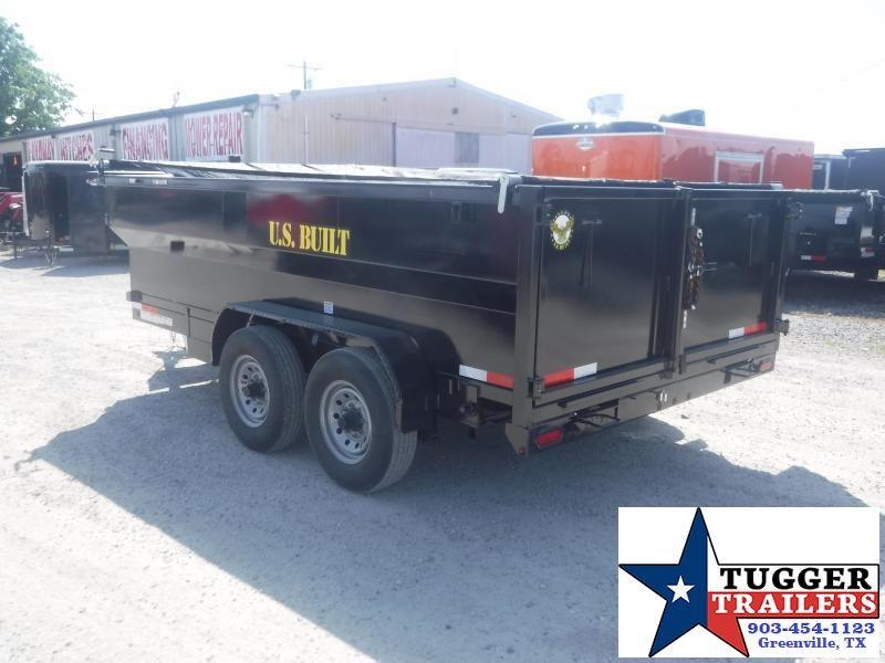 2020 Texas Pride Trailers 7x16 16ft Utility Asphalt Lawn Business Steel Dump Trailer