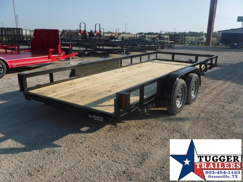 2019 TexLine 83x18 18ft Flatbed Ramp Utility Trailer