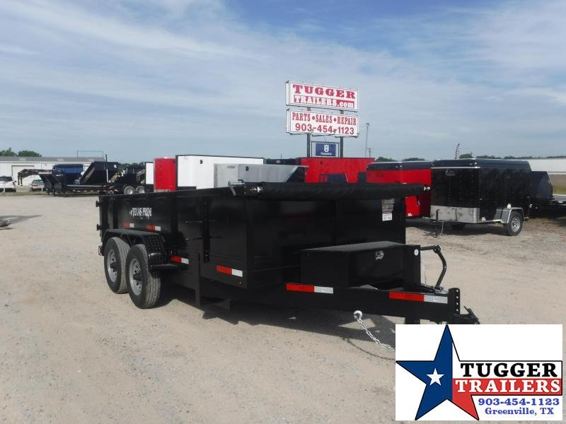 2020 Texas Pride Trailers 7x14 14ft Contractor Steel Heavy Duty Farm Equip Dump Trailer