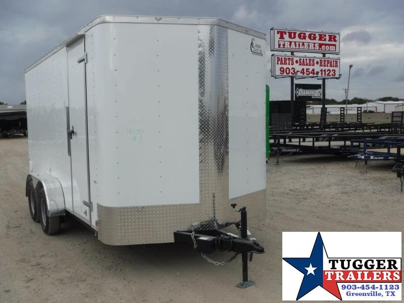 2020 Cargo Craft 7x14 14ft White Ramp Enclosed Cargo Trailer