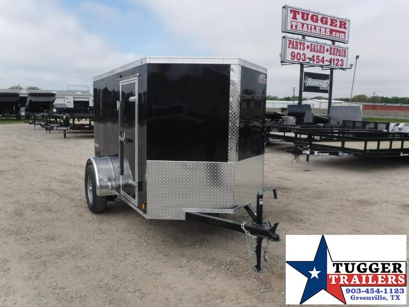 2020 HAIL SALE! Cargo Mate 5X8 8ft Double Door Black Single Axle Enclosed Cargo Trailer