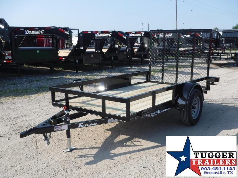2019 TexLine 5x10 10ft Ramp Flatbed Utility Trailer