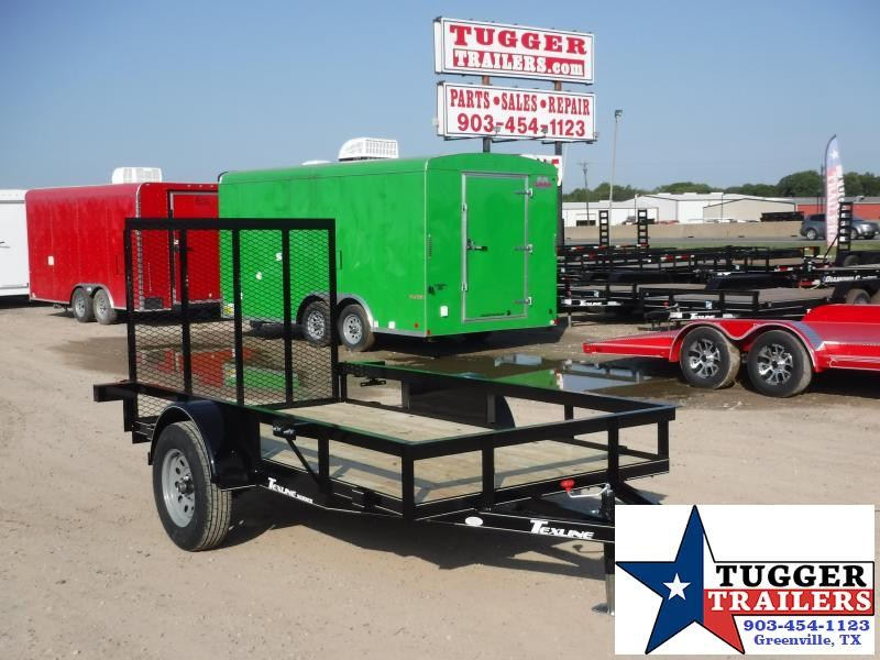 2019 TexLine 5x10 10ft Ramp Flatbed Utility Trailer