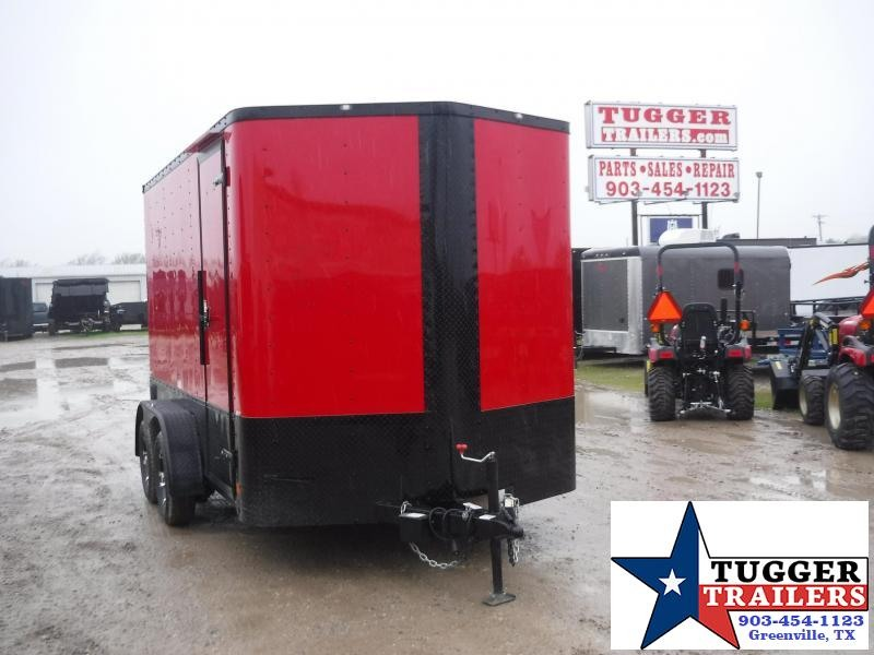 2020 Cargo Craft 7x12 12ft Black Out Move Band Lawn Utility Ramp Enclosed Cargo Trailer