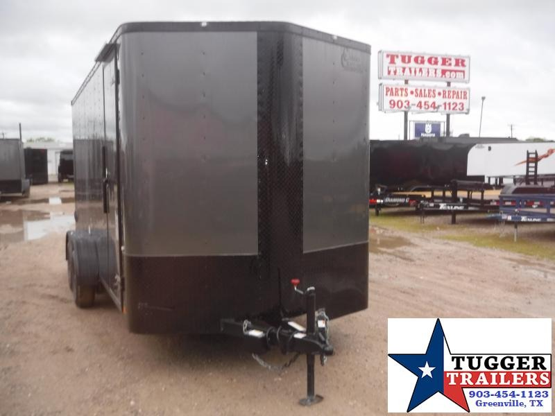 2020 Cargo Craft 7x16 16ft Black Out Utility Sport Move Work Lawn Enclosed Cargo Trailer